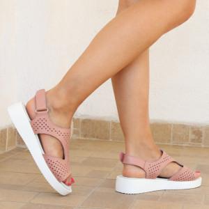 Sandale pentru dame din piele naturală cod PL-2018-Pink