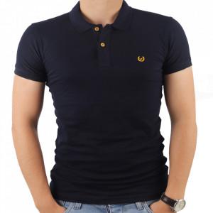 Tricou pentru bărbați cod 4002 Bleu