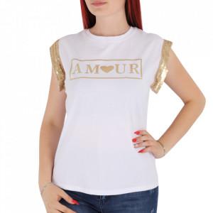 Tricou pentru dame cod F230 White