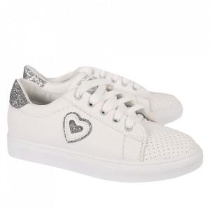 Pantofi Sport pentru dame cod 905 White/Silver