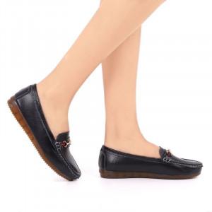 Pantofi din piele naturală cod 301 Negri