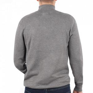 Bluză M-001 Grey - Bluza simplă este cel mai versatil articol vestimentar din sezonul rece, o piesă cu reputaţie a stilului casual având compoziţia 50% Viscoză 28% PPTşi 22% Elastan - Deppo.ro