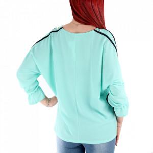 Bluză pentru dame cod BLZ9 Verde - Bluză pentru dame Conferă o ținută lejeră de vară - Deppo.ro
