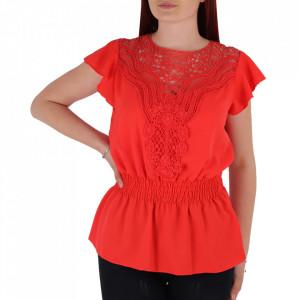 Bluză pentru dame tip cămașuță BP98 Coral