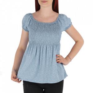 Bluză pentru dame tip cămășuță cod 31065 Blue