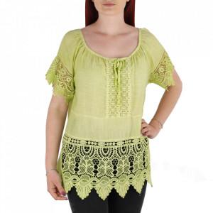 Bluză pentru dame tip cămășuță cod 91071 Green2