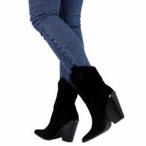Botine cod NR70 Black - Botine stiletto din piele ecologică întoarsă cu un toc deosebit . Poartă aceste botine și strălucește în fiecare zi . - Deppo.ro