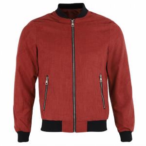 Geacă din piele ecologică pentru bărbați cod P-1810-8 Roșie