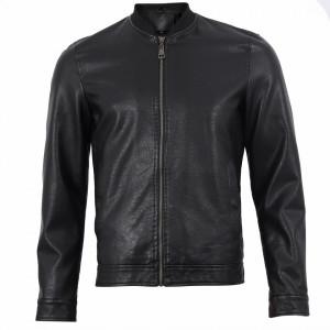Geacă din piele ecologică pentru bărbați cod TG-2768 Neagră