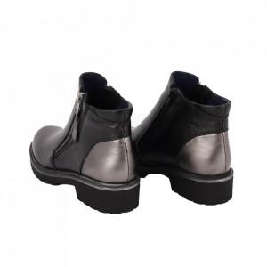 Ghete din piele naturală cod 505X Negru - Ghete din piele naturală cu închidere prin fermoar, stil casual. - Deppo.ro