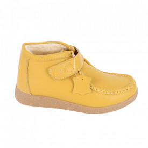 Ghete din piele naturală cod PL-9601-2 Yellow