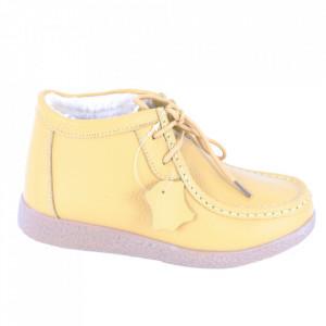 Ghete din piele naturală cod PL-9602-2 Yellow