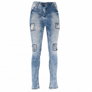 Pantaloni de blugi pentru dame cod DENIM01B Albaștri