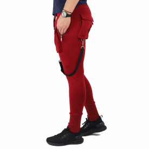 Pantaloni sport-casual pentru bărbați cod PSP6977 Vișini