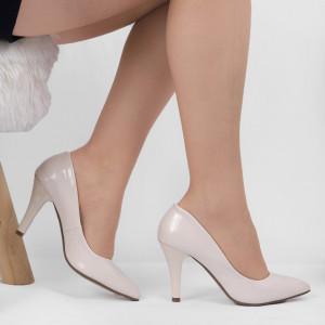 Pantofi Cu Toc Bej Cod 9008