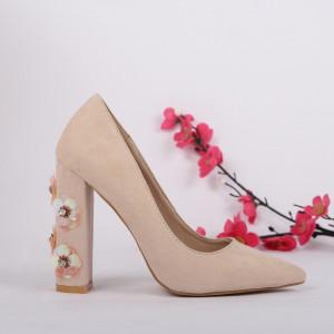 Pantofi cu toc cod 149730 Bej