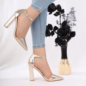 Pantofi cu toc cod 1598225 Auri
