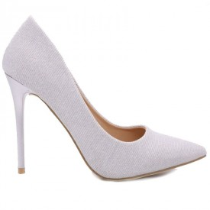 Pantofi cu toc cod 2793 Gri - Pantofi din piele ecologică cu vârf subțire, confortul purtării este sporit de tălpicul din piele ecologică - Deppo.ro
