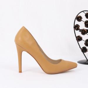 Pantofi cu toc cod 6A727 Camel
