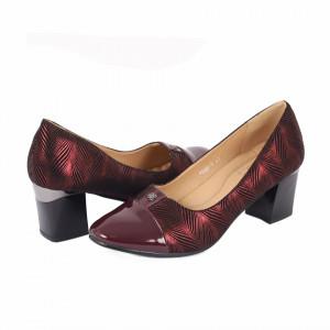 Pantofi cu toc cod 90053 Bordo