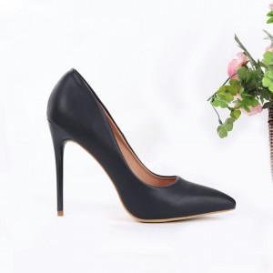 Pantofi cu toc cod EK0016 Navy - Pantofi cu toc din piele ecologică cu un design unic, fii în pas cu moda şi străluceşte la următoarea petrecere. - Deppo.ro