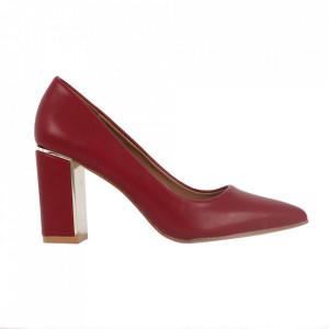 Pantofi cu toc cod EK0502 Wine