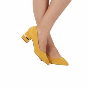 Pantofi cu toc cod OD0080 Galbeni