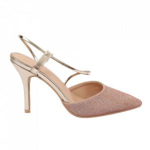 Pantofi cu toc cod OD0218 Gold