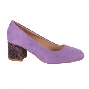 Pantofi cu toc cod OD0319 Purple
