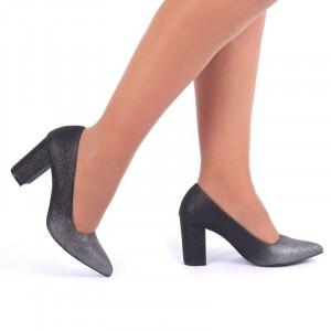 Pantofi Cu Toc cod S2212 Black