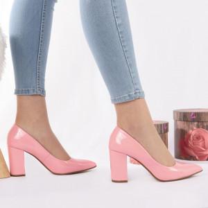 Pantofi cu toc cod SA1779A Roz