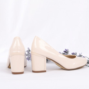 Pantofi Cu Toc Isla Bej