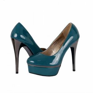 Pantofi Cu Toc Jasmin Verzi