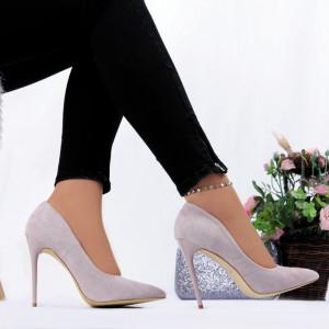 Pantofi Cu Toc Sarai Purple - Pantofi cu toc din piele ecologică cu un design unic. Fii în pas cu moda şi străluceşte la următoarea petrecere. - Deppo.ro