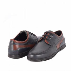Pantofi din piele naturală Abraham Albastru