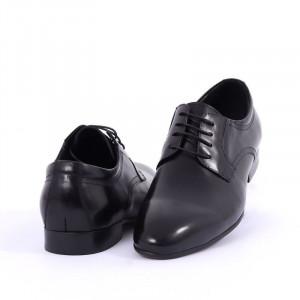 Pantofi din piele naturală Alberto - Pantofi maro din piele naturală, model simplu - Deppo.ro