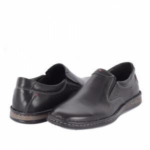 Pantofi din piele naturală Anthony Negru