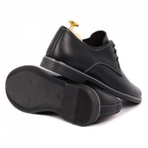 Pantofi din piele naturală Bond Negri - Pantofi din piele naturală pentru bărbați, model simplu, finisaje îngrijite cu undesign deosebit - Deppo.ro