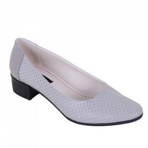 Pantofi din piele naturală cod 1141 Gri