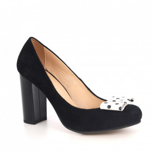 Pantofi din piele naturală cod 12817 Black