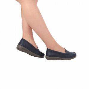 Pantofi din piele naturală cod 201 Navy