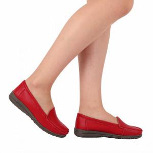 Pantofi din piele naturală cod 201 Roși