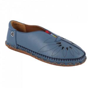 Pantofi din piele naturală Cod 204 Blue
