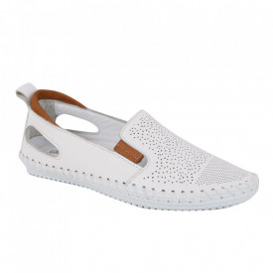 Pantofi din piele naturală cod 30107 White