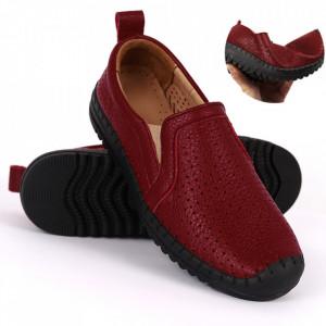 Pantofi din piele naturală Cod 4815 Bordo