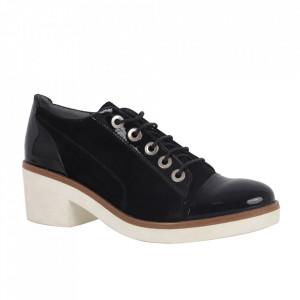 Pantofi din piele naturală cod 543 Black