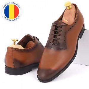 Pantofi din piele naturală cod 5455
