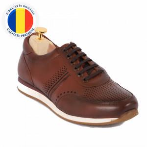 Pantofi din piele naturală cod 5581 Maro
