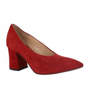 Pantofi din piele naturală cod 65017 Red