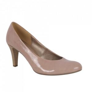 Pantofi din piele naturală cod 6521 Bej